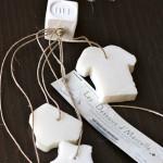 Seifen in süsser Wäscheform - praktisch zum Einhängen in den Kästen, duften gut, beschriftbar