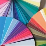 Auswahl an Farbfächern