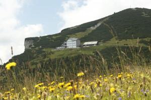 Blick aufs Ottohaus Rax